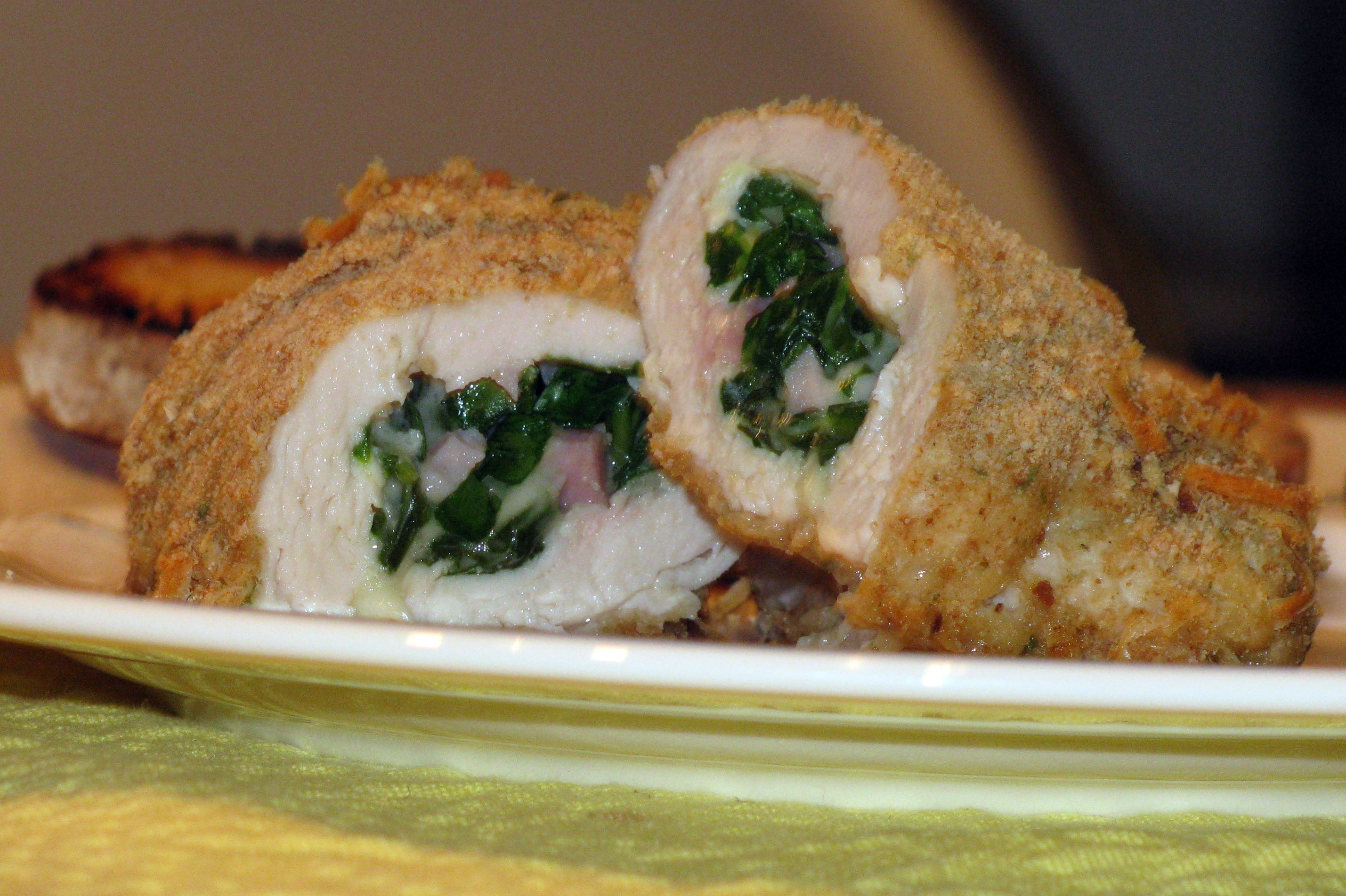 Chicken Stuffed With Pepperoncini And Goat Cheese