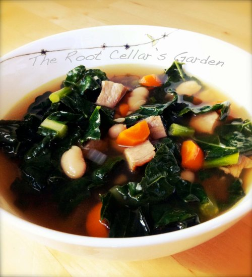 smoky kale and white bean